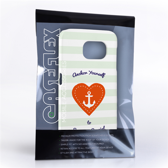 Caseflex Samsung Galaxy S6 Anchor Love Heart Case