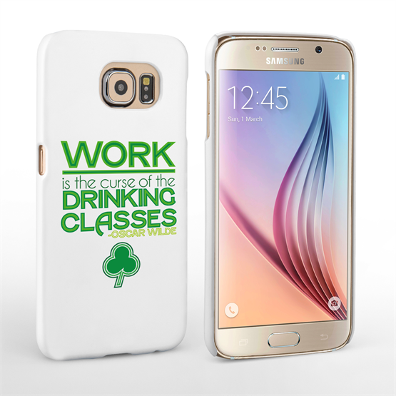 Caseflex Samsung Galaxy S6 Wilde Drinking Classes Quote Hard Case – White and Green