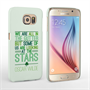 Caseflex Samsung Galaxy S6 Wilde Stars Quote Hard Case – White and Green