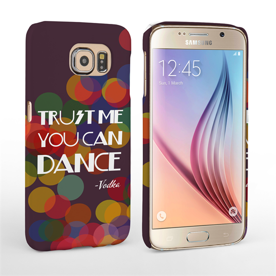 Caseflex Samsung Galaxy S6 Vodka Dance Quote Hard Case – Purple