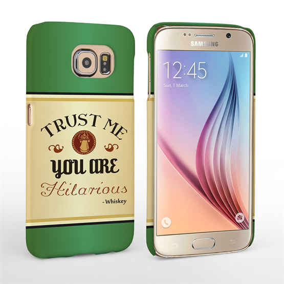 Caseflex Samsung Galaxy S6 Irish Whiskey Quote Hard Case – Green