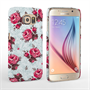 Caseflex Samsung Galaxy S6 Vintage Roses Wallpaper Hard Case – Light Blue
