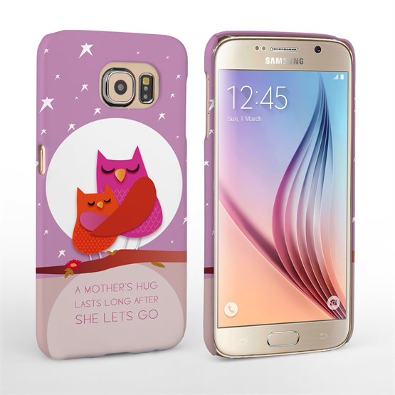 Caseflex Samsung Galaxy S6 Mummy Owl Hard Case – Purple and Pink