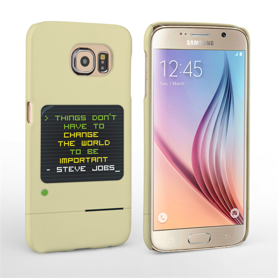 Caseflex Samsung Galaxy S6 Steve Jobs Quote Case