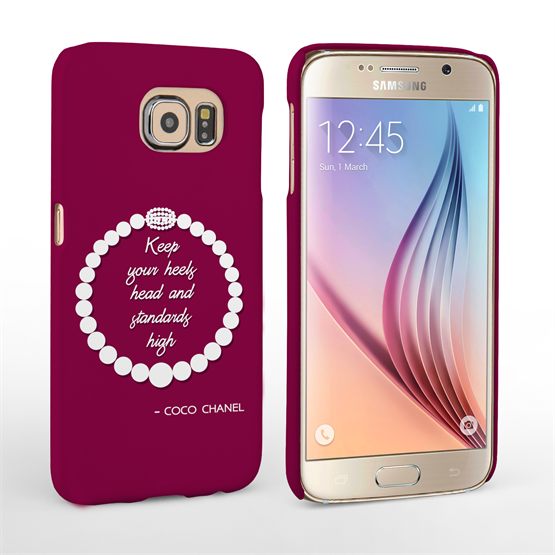Caseflex Samsung Galaxy S6 Chanel Diamond & Pearls Quote Case