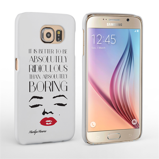 Caseflex Samsung Galaxy S6 Marilyn Monroe Face Quote Case