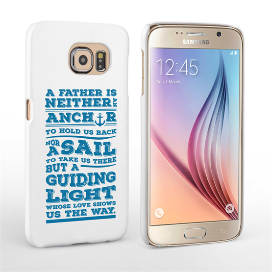Caseflex Father Sail Quote Samsung Galaxy S6 Case