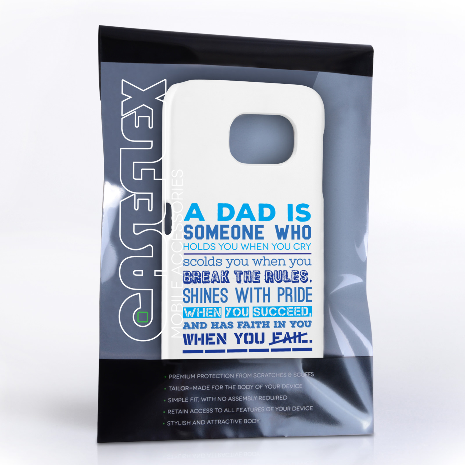 Samsung Quote Caseflex Definition Of A Dad Quote Samsung Galaxy S6 Case