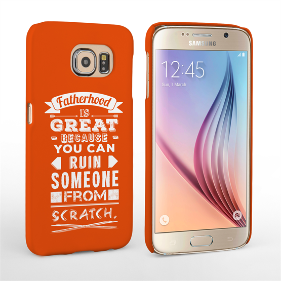 Caseflex Fatherhood Funny Quote Samsung Galaxy S6 Case – Red