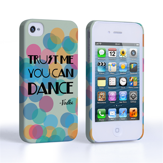 Caseflex iPhone 4 / 4S Vodka Dance Quote Hard Case – Green