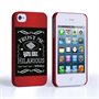 Caseflex iPhone 4 / 4S Bourbon Whiskey Quote Hard Case – Black