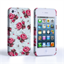 Caseflex iPhone 4 / 4S Vintage Roses Wallpaper Hard Case – Light Blue