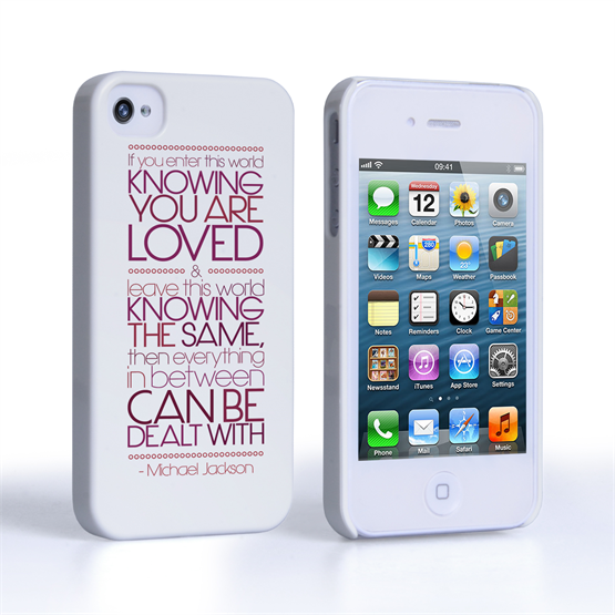 Caseflex iPhone 4 / 4s Michael Jackson Quote Case