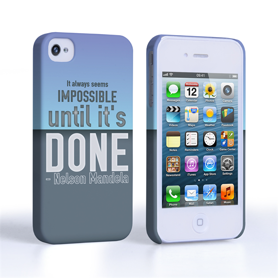 Caseflex iPhone 4 / 4s Nelson Mandela Quote Case