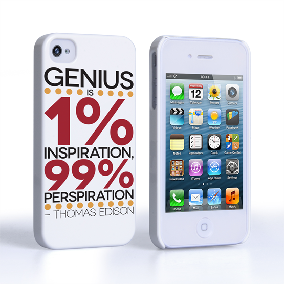 Caseflex iPhone 4 / 4s Thomas Edison Quote Case