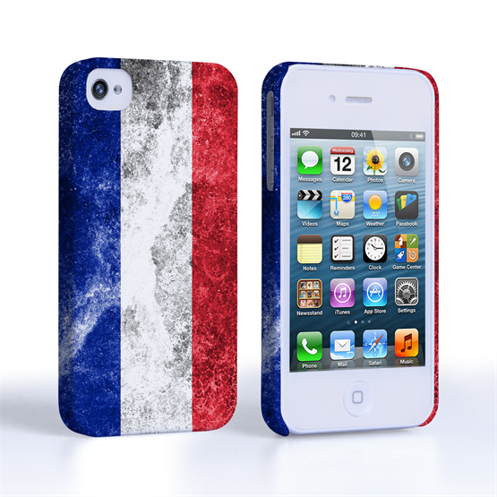 Caseflex iPhone 4 / 4S Retro France Flag Case