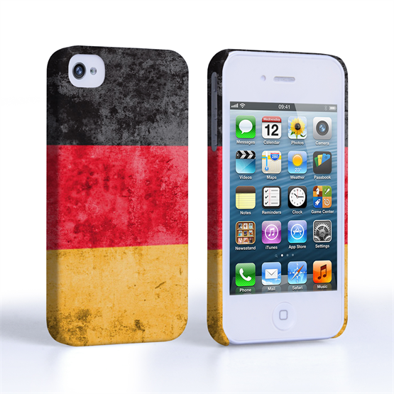 Caseflex iPhone 4 / 4S Retro Germany Flag Case