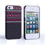 Caseflex iPhone 4/4S Fairisle Case – Grey and Red Half Pattern