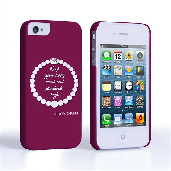 Caseflex iPhone 4/4s Chanel Diamond And Pearls Quote Case