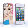 Caseflex iPhone 4/4s Marilyn Monroe 'Fear is Stupid' Quote Case