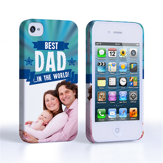 Caseflex iPhone 4 / 4S Best Dad in the World (Blue) Case/Cover