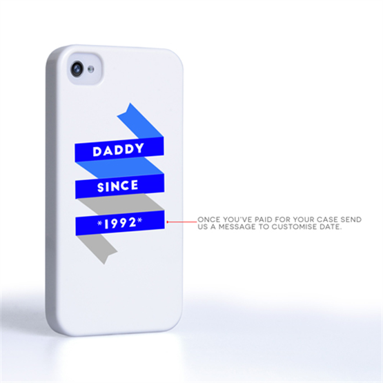 Caseflex Daddy Custom Year iPhone 4 / 4S Case - White