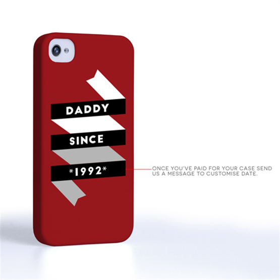 Caseflex Daddy Custom Year iPhone 4 / 4S Case - Red
