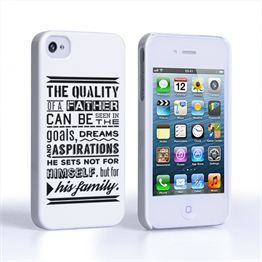 Caseflex Father Family Quote iPhone 4 / 4S Case