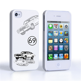 Caseflex Chevrolet Chevelle Classic Car iPhone 4 / 4S Case- White