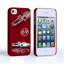 Caseflex Chevrolet Chevelle Classic Car iPhone 4 / 4S Case- Burgundy