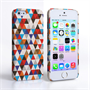 Caseflex iPhone SE Triangles Pattern Hard Case - Blue and Red