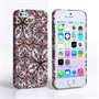 Caseflex iPhone SE Retro Flower Pattern Hard Case Black White And Red