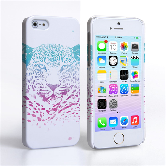 Caseflex iPhone SE Leopard Splash Hard Case