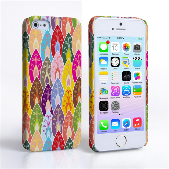 Caseflex iPhone SE Bright Coloured Leaves Case