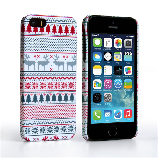 Caseflex iPhone 5 / 5S Reindeer Christmas Jumper Case