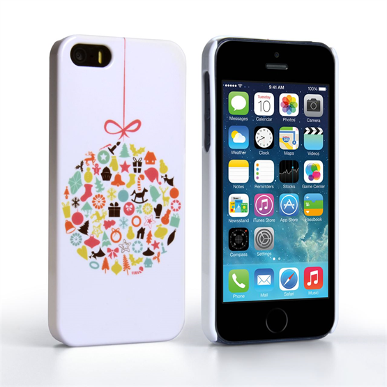 Caseflex iPhone 5 / 5S Christmas Bauble Decorations Case