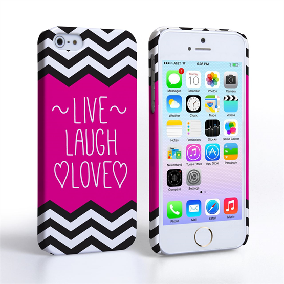Caseflex iPhone 5 / 5S Live Laugh Love Heart Case