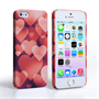 Caseflex iPhone SE Shimmering Hearts Case - Red
