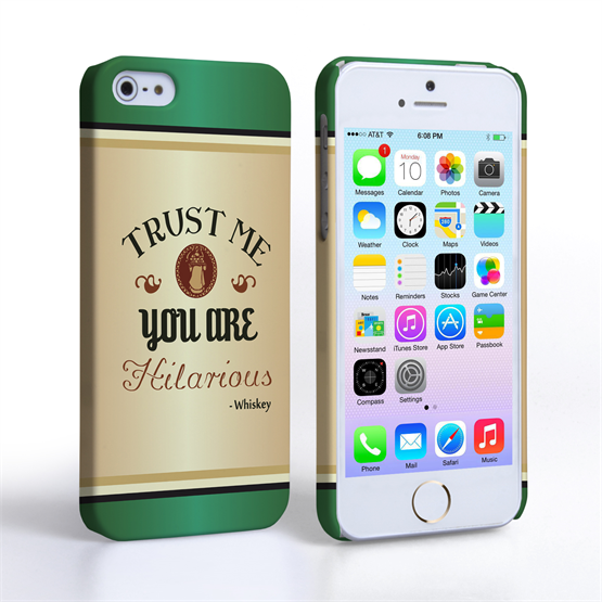 Caseflex iPhone 5 / 5S Irish Whiskey Quote Hard Case – Green