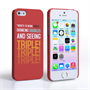 Caseflex iPhone SE Single, Double, Triple Quote Hard Case – Red