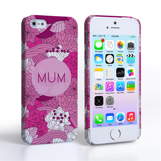Caseflex iPhone 5 / 5S Retro Swirl Mum Case – Pink