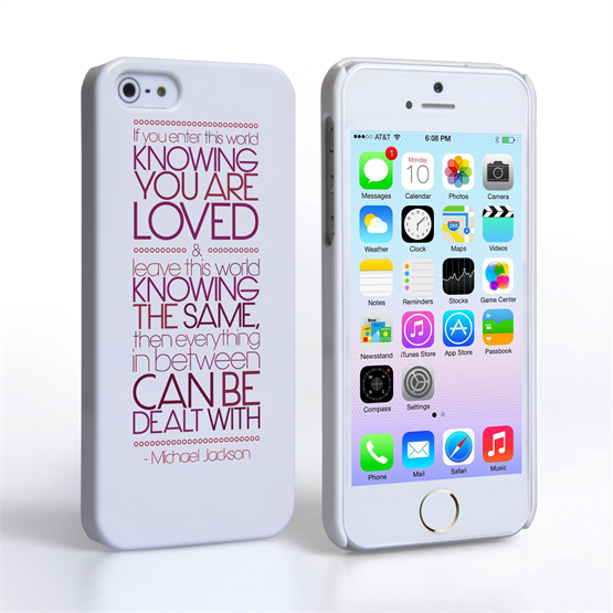 Caseflex iPhone 5 / 5S Michael Jackson Quote Case