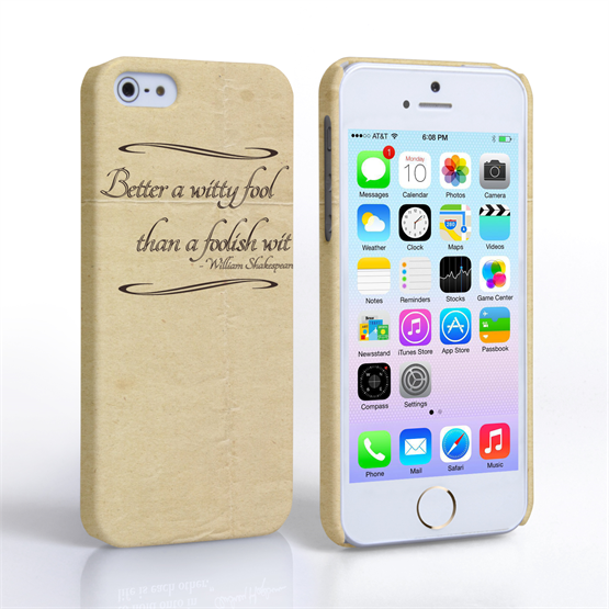 Caseflex iPhone SE Shakespeare Quote Case