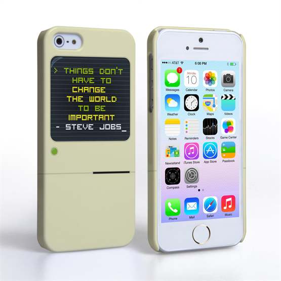 Caseflex iPhone 5 / 5S Steve Jobs Quote Case