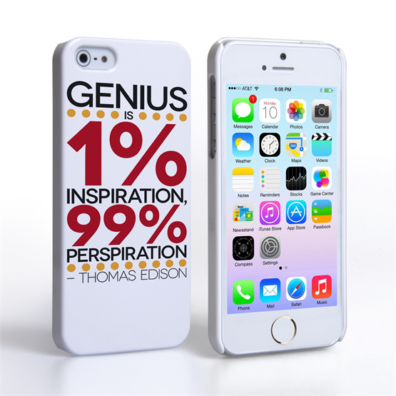 Caseflex iPhone 5 / 5S Thomas Edison Quote Case