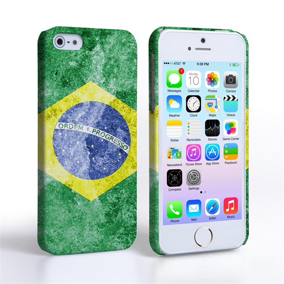Caseflex iPhone 5 / 5S Retro Brazil Flag Case