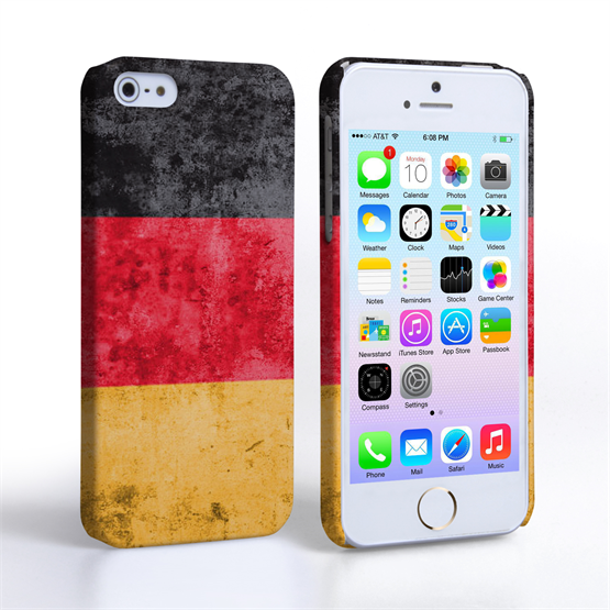 Caseflex iPhone 5 / 5S Retro Germany Flag Case