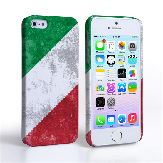Caseflex iPhone SE Retro Italy Flag Case