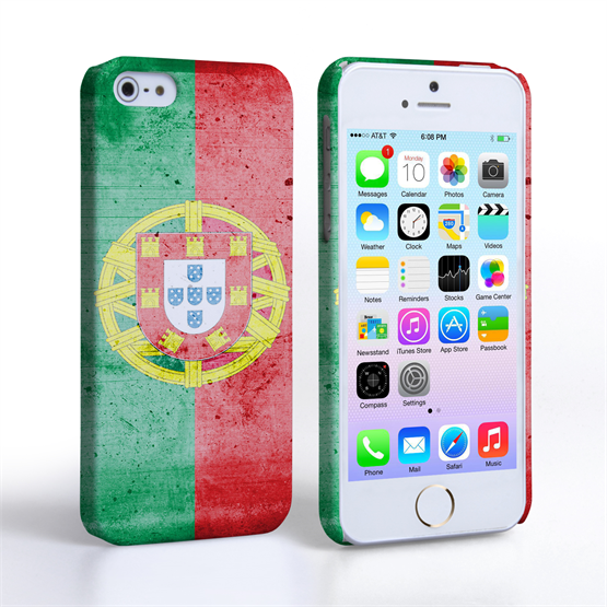 Caseflex iPhone SE Retro Portugal Flag Case