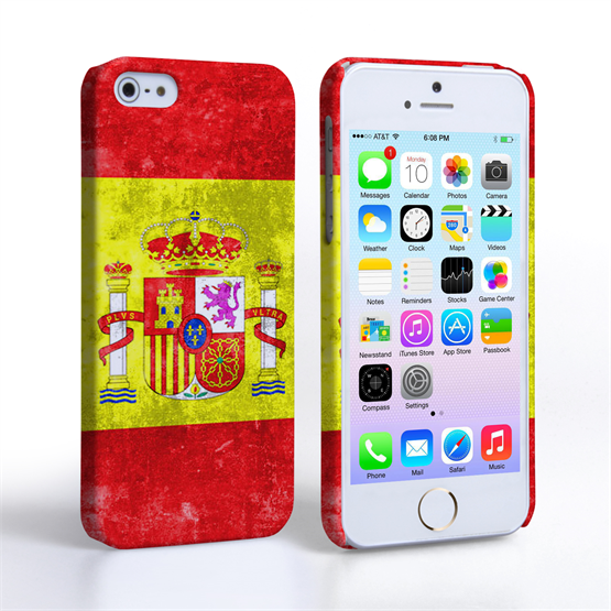 Caseflex iPhone 5 / 5S Retro Spain Flag Case